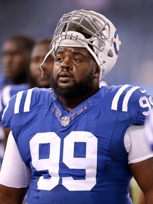 Nose tackle Josh Chapman was among the Colts' final cuts.