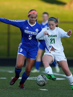 Green Bay Notre Dame's Trudy Quidzinski (No. 21) recorded a goal and an assist in the Tritons' 3-2 victory over Waukesha West on Saturday.