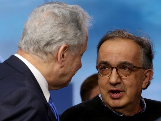 FCA CEO Sergio Marchionne and NHTSA Administrator Mark Rosekind