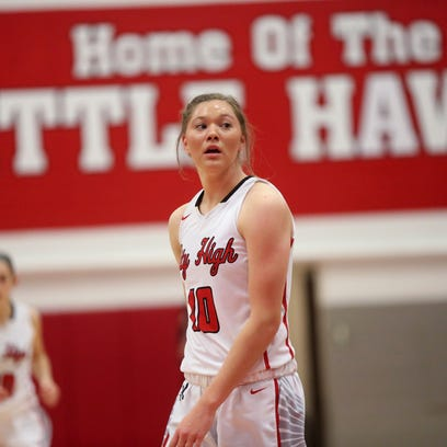 City High's Ashley Joens is pictured during the Little