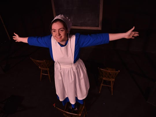 "Katherine Duffy in a scene from ""The Amish Project"" at Third Avenue Playhouse. Duffy, who played seven roles in the one-person show, was named on the Milwaukee Journal Sentinel's list of top 10 Leading Performances in Wisconsin theater for 2016."