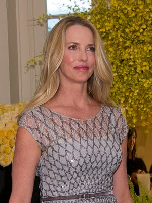Laurene Powell Jobs, founder of the Emerson Collective and widow of Steve Jobs, arrives at the White House August 2, 2016 in for a state dinner honoring Prime Minister Lee Hsien Loong of the Republic of Singapore.