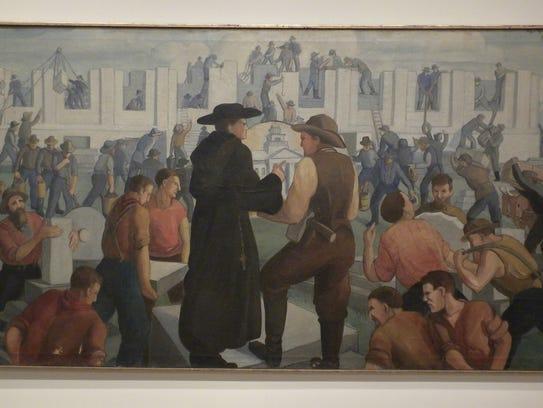 """Mildred Pelzer's """"We Build Our Capitol 1841,"""" 1934,"""