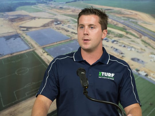 Chris Giacomucci, executive director for the new DE Turf Sports Complex in Frederica.