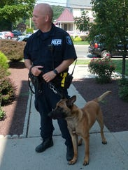 Clarkstown Police Officer Robert Reilly and his dog