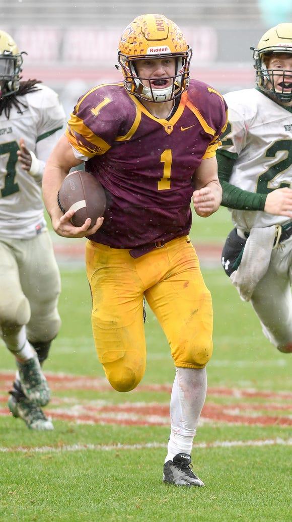 Cherokee quarterback Tye Mintz outruns North Duplin's