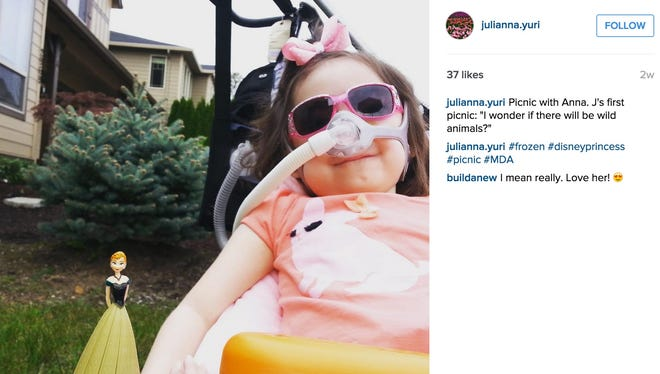 Julianna Snow has a neurodegenerative condition called Charcot-Marie-Tooth disease, which has caused her coughing and breathing muscles to become so weak that even a minor cold could become pneumonia, CNN reported.