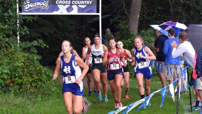Runners participate in the Harper Creek Optimist Invitational.
