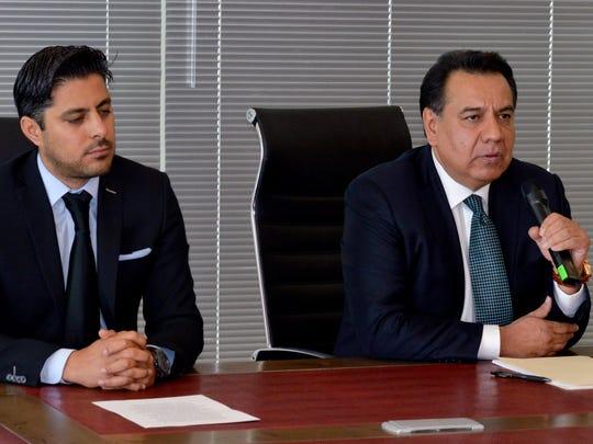 Por encontrarse en trámites migratorios, Joao Aguilera no pudo estar en la conferencia que dio su abogado Marco Tulio Ruiz, quien encabeza un grupo de cinco profesionales en el tema, que lo defienden.