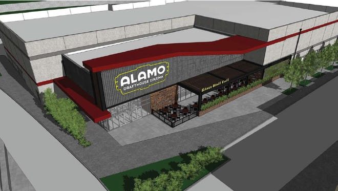 This is a rendering of the  Alamo Drafthouse Cinema now under construction in West El Paso. It's expected to open in early summer 2016.