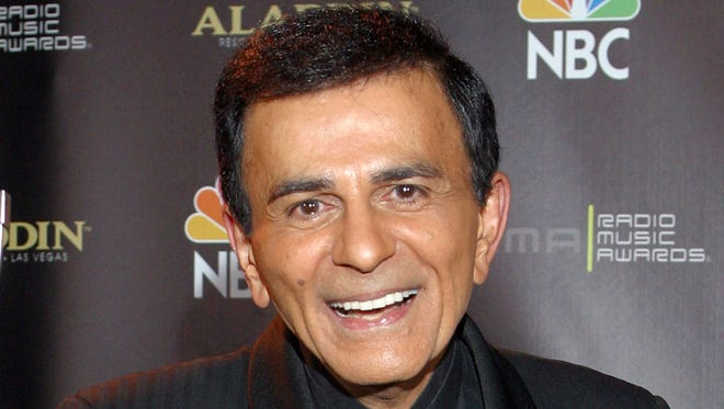 FILE - In this Oct. 27, 2003 file photo, Casey Kasem poses for photographers after receiving the Radio Icon award during The 2003 Radio Music Awards at the Aladdin Resort and Casino in Las Vegas.