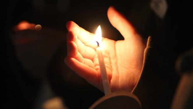 In memorium candle