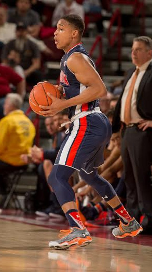 Auburn guard Bryce Brown led all scorers with 27 points