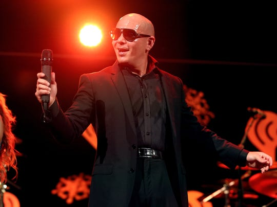 Pitbull will perform on Aug. 8 at the Indiana State Fairgrounds Coliseum.