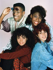 'A Different World' showed the world the warmth of college life at Hillman College, a historically black school. Pictured (clockwise from top left): Kadeem Hardison as Dwayne Cleophus Wayne, Dawnn Lewis as Jaleesa Vinson Taylor, Marisa Tomei as Maggie Lauten, Lisa Bonet as Denise Huxtable.