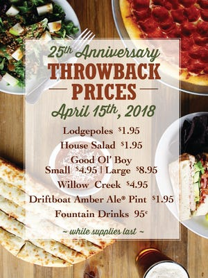 MacKenzie River's throwback items, with prices available April 15.