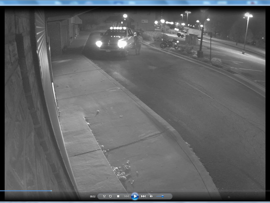 A stolen Dodge Ram pick up truck that was later used to drive through a window at Leo's Jewelry.