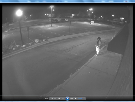 A suspect sought in a break-in at Leo's Jewelry store