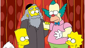 Rabbi Krustofski (guest voice Jackie Mason), second from left, made an early appearance on 'The Simpsons' in the 'Like Father, Like Clown' episode in 1991.