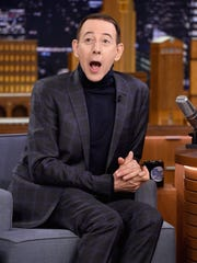 Paul Reubens on 'The Tonight Show' in October.