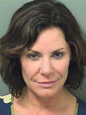 Luann de Lesseps in booking photo by the Palm Beach County Sheriff's Office, on Dec. 24, 2017 in Palm Beach, Fla.
