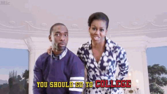 you should go to college michelle obama