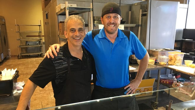"""John Giaccone, left, and Matthew Schumacher own CKFM Lunch to Go on Metro Parkway in south Fort Myers. """"Our goal is to provide real food fast,"""" says Giaccone."""