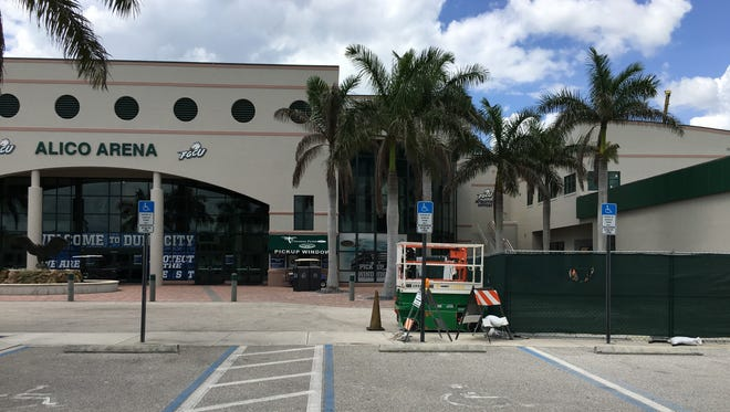 Phase I of FGCU's Alico Arena expansion is scheduled to open Aug. 1, 2017.