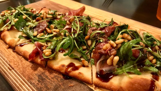 The prosciutto flatbread from Artisan Eatery in south Fort Myers.