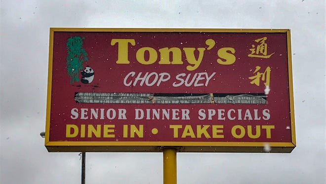 Tony's Chop Suey first opened in 1984.