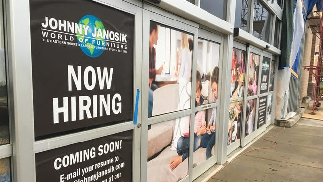 Furniture store Johnny Janosik is opening soon in Christiana, the second of its two new New Castle County stores.