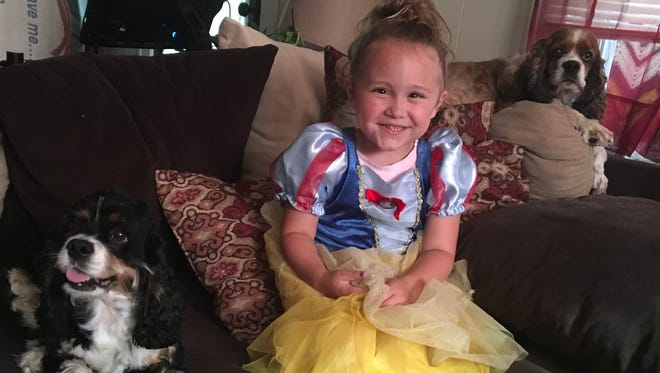 Alaina, 3, is a ball of energy. She loves singing, dancing and making people laugh.