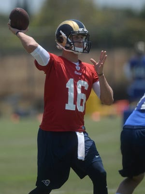 Jared Goff maybe the first overall pick, but he is expected to be on the inactive list when the Rams open the season Monday night in San Francisco.