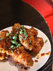 Korean Style Chicken Wings, with sesame seed, scallion