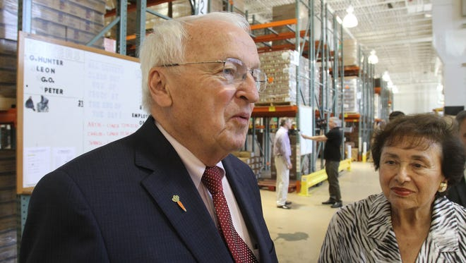 From left, U.S. Department of Agriculture Undersecretary Kevin Concannon, and U.S. Rep. Nita Lowey, take a tour of the Food Bank for Westchester Distribution Center in Elmsford July 21, 2016.