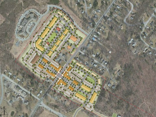 The site plan for Eastdale Village, a residential and