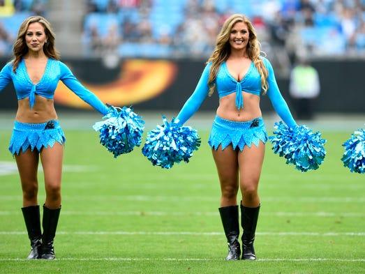 Carolina Panthers cheerleaders perform at Bank of America db46375ba