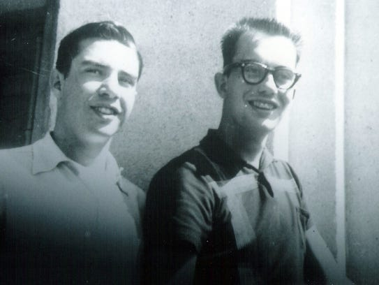 Brothers Terry, left, and George (Dennis) Byrne are