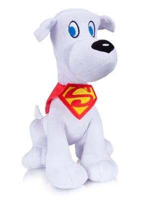A plush Krypto, Superman's super pup, will be available for fans at this year's Comic-Con.