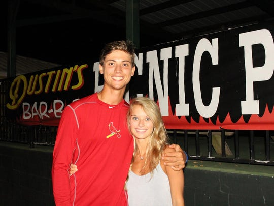 Former Florida State pitcher Luke Weaver and fiance Olivia are in Tallahassee for a few days.