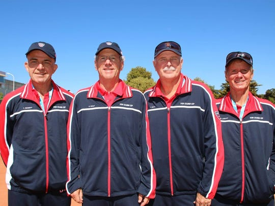 Paul Wulf (second from left) was a member of the U.S. team at the ITF Seniors World Team Championships in La Baule, France. The Americans were runners-up to Australia in the event, which is the Davis Cup of senior tennis.