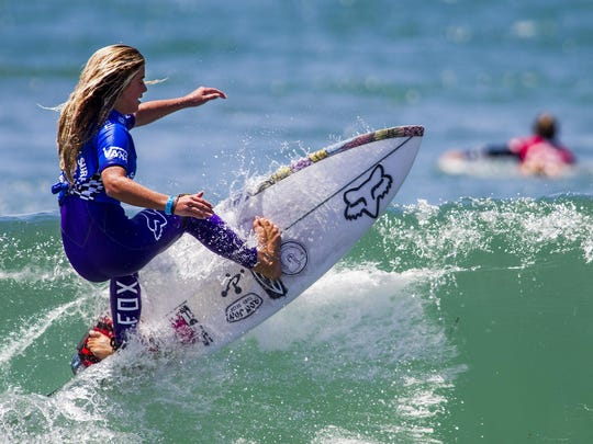 Caroline Marks won the Van's U.S. Open of Surfing Junior Women's Pro.