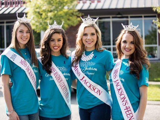 The Miss Jackson and Miss Teen Jackson contestants participated in WRAP's Walk a Mile event Saturday in Downtown Jackson.