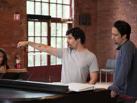 "Lin-Manuel Miranda, right, is shown during rehearsal for ""The Hamilton Mixtape"" during Vassar & New York Stage and Film Powerhouse Theater's 2013 season."