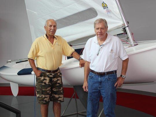Peter (left) and Olaf Harken were inducted into the National Sailing Hall of Fame in 2014. Olaf died Oct. 21 at the age of 80.