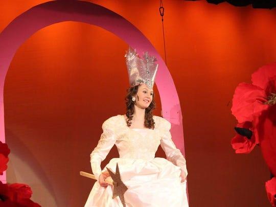 "Mari Thompson portrays Glinda in Stissing Mountain Junior-Senior High School's 2015 production of ""The Wizard of Oz."""
