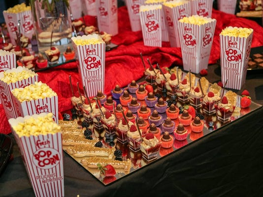 Golden Globe Party food tray