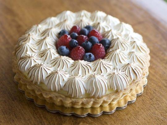 A lemon meringue tart with fresh fruit from the Flaky Tart in Atlantic Highlands.