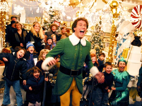 "Enjoy cookies and cocoa during ""Elf"" screenings at Asheville Pizza and Brewing, at 1 p.m. and 4 p.m. Dec. 22-24."