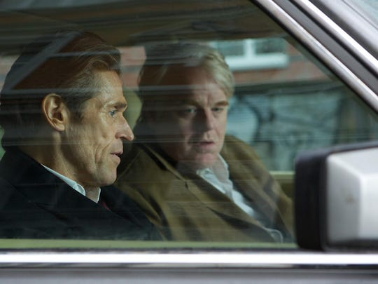 """Willem Dafoe and Philip Seymour Hoffman in a scene from """"A Most Wanted Man."""""""